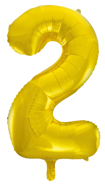 Giant Gold 86cm Helium Balloon Letters & Numbers