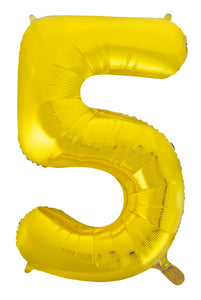 Gold Letters & Numbers - Giant 86cm Helium Balloons