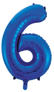 Blue Letters & Numbers - Giant 86cm Helium Balloons