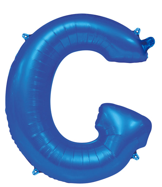Giant Blue 86cm Helium Balloon Letters & Numbers