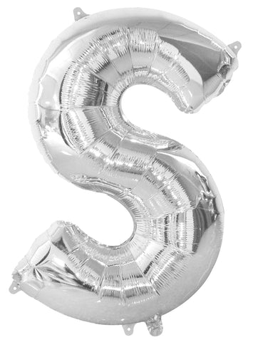 Silver Letters & Numbers - Giant 86cm Helium Balloons