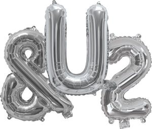 Giant Silver 86cm Helium Balloon Letters & Numbers