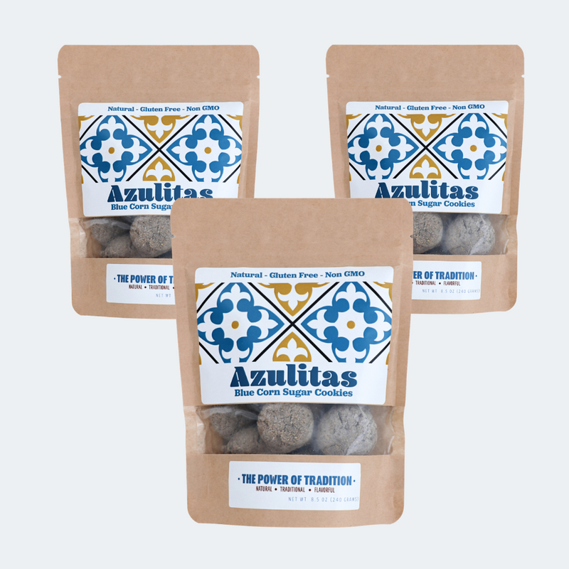Azulita Bundle Buy 2 Get One Free - Pinole Blue Non GMO Gluten Free Vegan Friendly Blue Corn