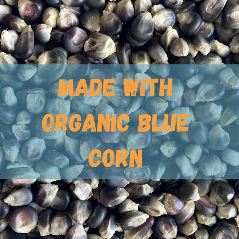All Natural Instant Atole Blend (12.7 oz) - Pinole Blue Non GMO Gluten Free Vegan Friendly Blue Corn