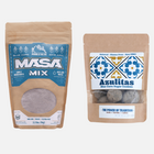 Bundle of Masa Mix & Bag of Azulita Sugar Cookies - Pinole Blue Non GMO Gluten Free Vegan Friendly Blue Corn