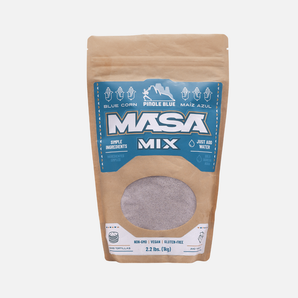 Instant Masa Mix - 2.2 LBS for homemade tortillas, tamales, gorditas and more - Pinole Blue Non GMO Gluten Free Vegan Friendly Blue Corn