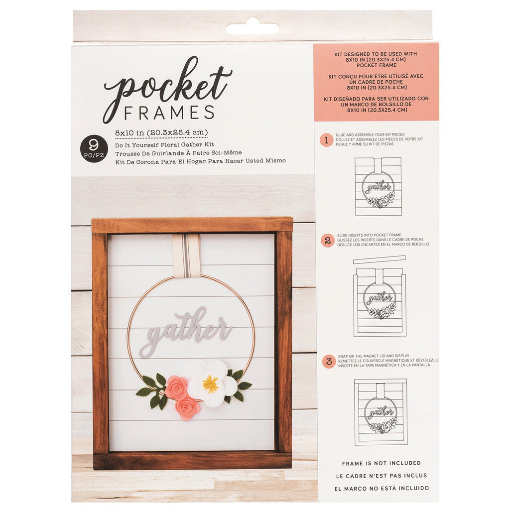 Floral Gather Kit | DIY Insert Kit | Size B | American Crafts