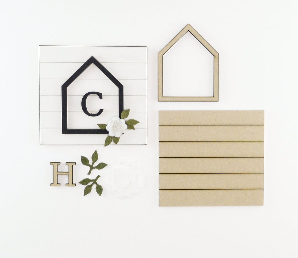 House + Monogram | DIY Insert Kit | 6x6 (Size A)