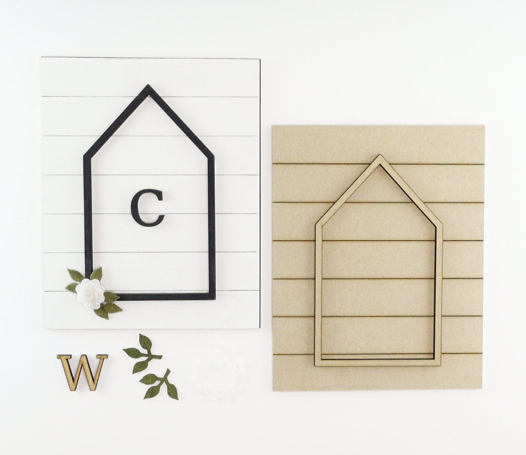 House + Monogram | DIY Insert Kit | 8x10 (Size B)