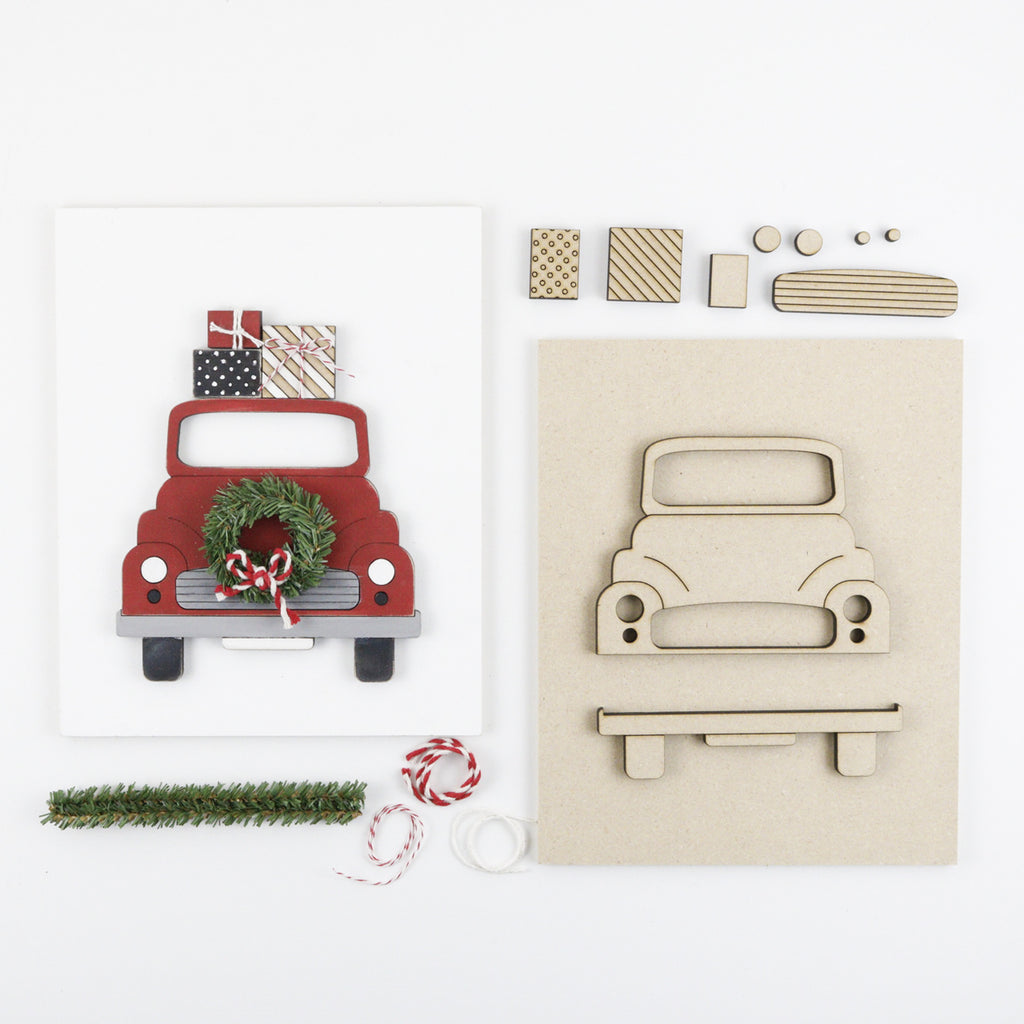 Christmas Truck | DIY Insert Kit | Size B