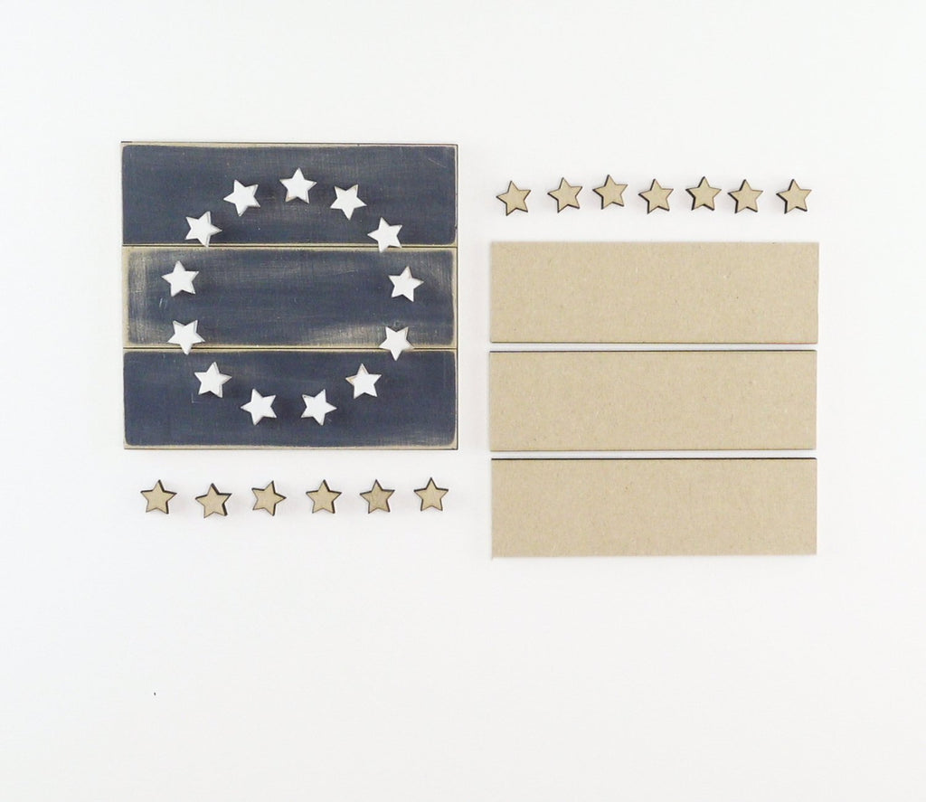 Colonial Stars | DIY Insert Kit | 6x6 (Size A)