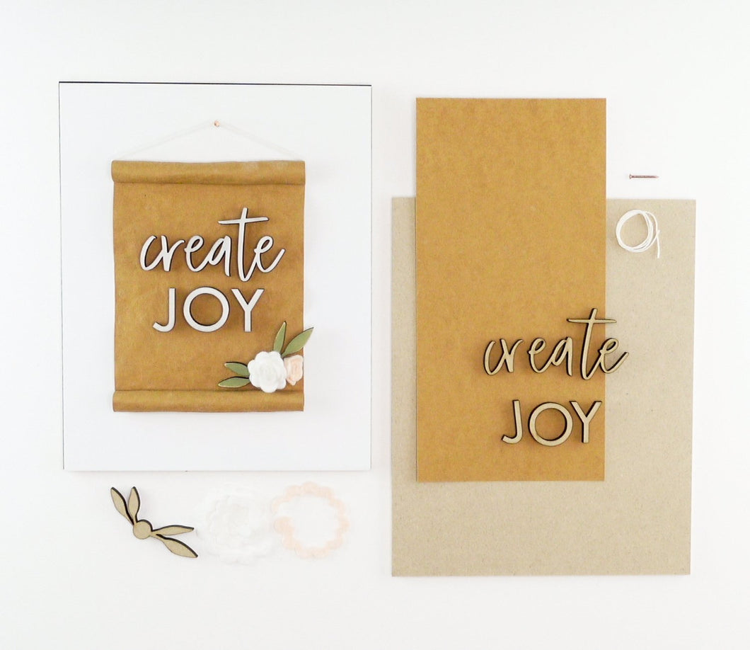 Create Joy | DIY Insert Kit | 8x10 (Size B)