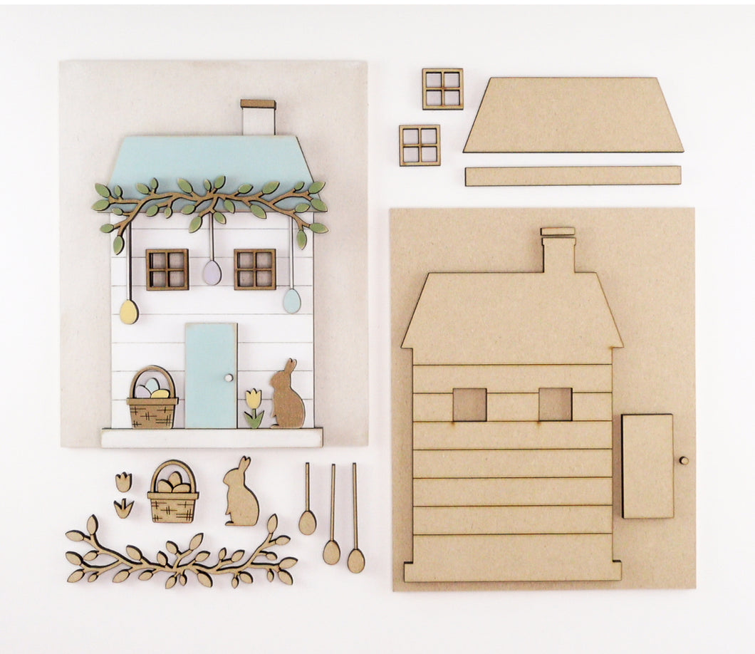 Easter Cottage | DIY Insert Kit | 8x10 (Size B)