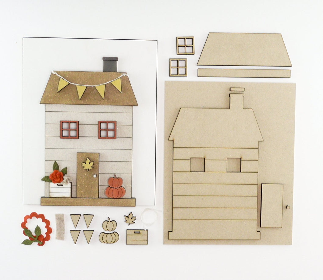 Fall Cottage | DIY Insert Kit | 8x10 (Size B)