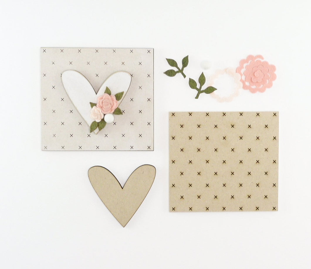 Floral Heart | DIY Insert Kit | 6x6 (Size A)