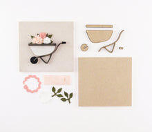 Load image into Gallery viewer, Flower Wheelbarrow | DIY Insert Kit | 6x6 (Size A)