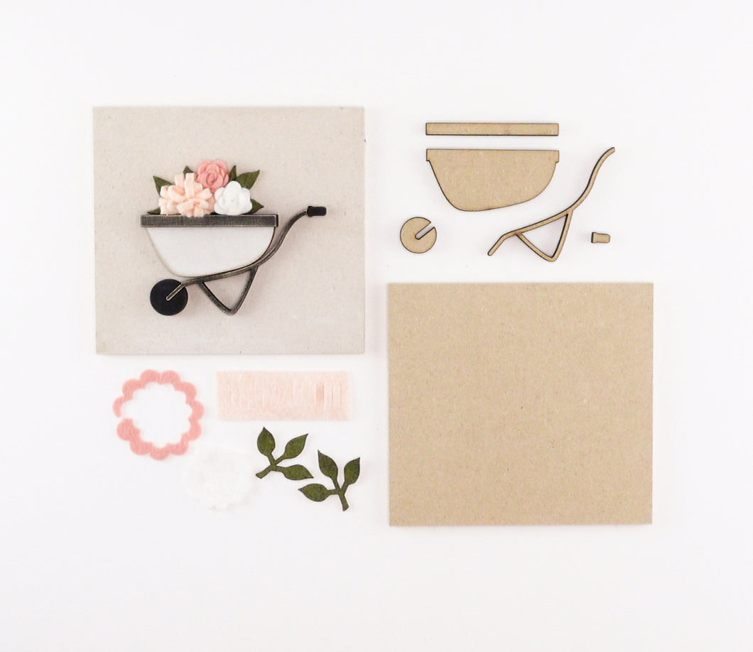 Flower Wheelbarrow | DIY Insert Kit | 6x6 (Size A)