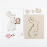 Flower Basket Bunny | DIY Insert Kit | Size B