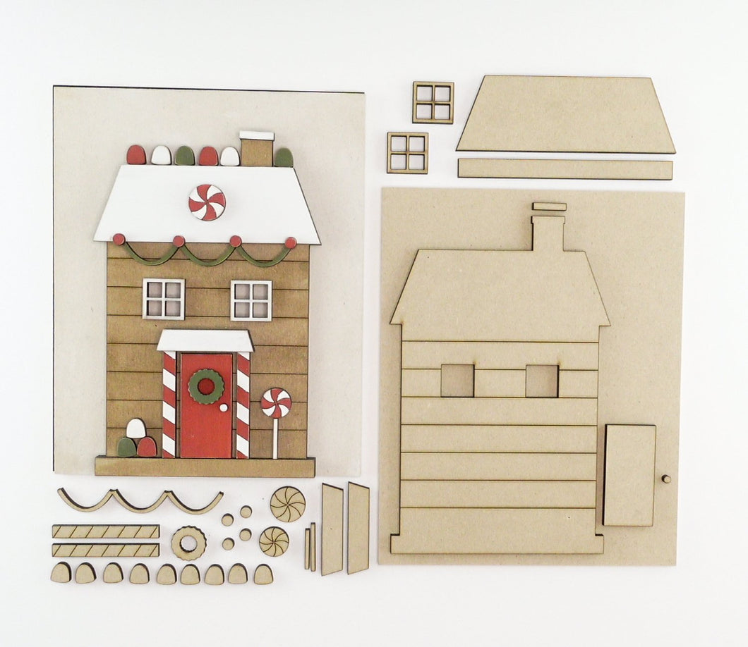 Gingerbread Cottage | DIY Insert Kit | 8x10 (Size B)