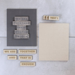 We Are Together | DIY Insert Kit | Size B