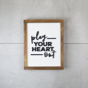 Play Your Heart Out | DIY Insert Kit | Size B