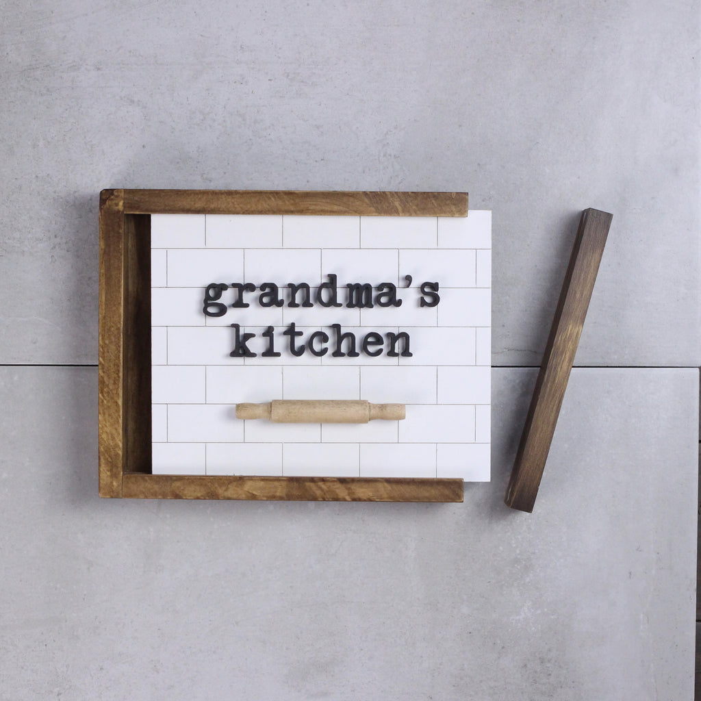 Kitchen Sign - Customizable | DIY Insert Kit | Size B