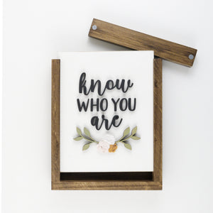 Know Who You Are | DIY Insert Kit | Size B