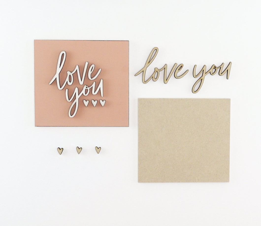Love You | DIY Insert Kit | 6x6 (Size A)