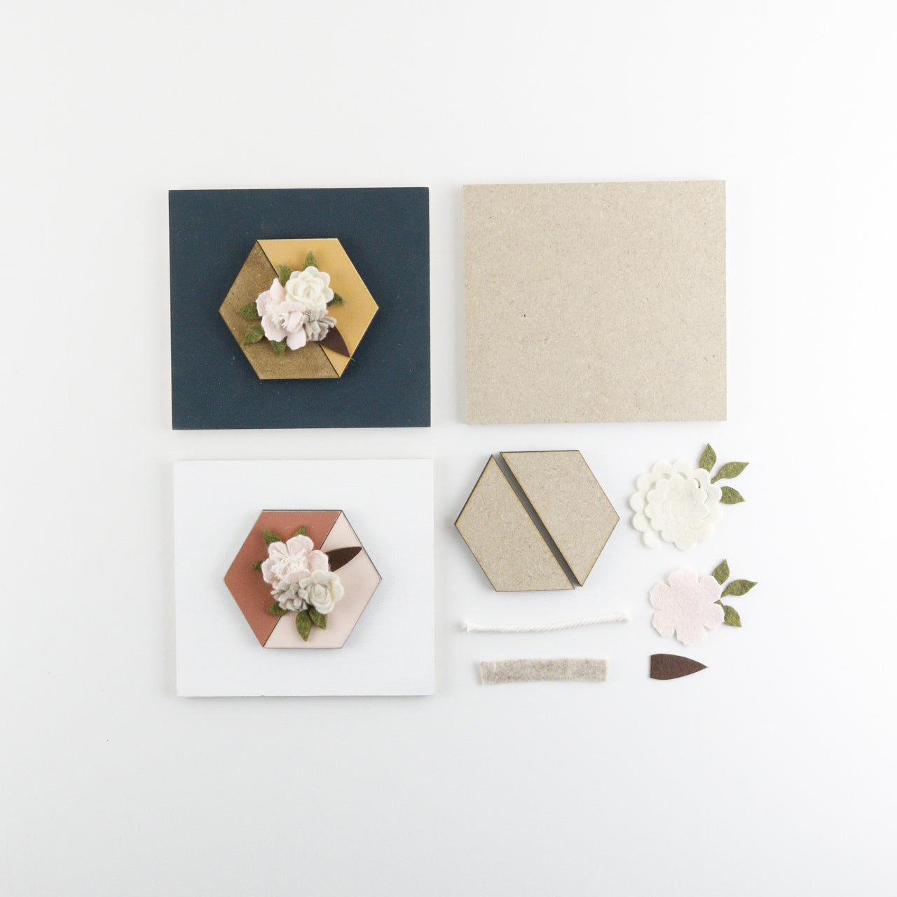Floral Hexagon | DIY Insert Kit | Size A