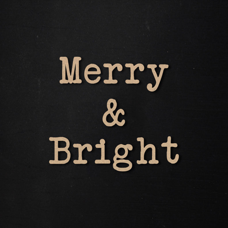 Merry & Bright | Word Kit