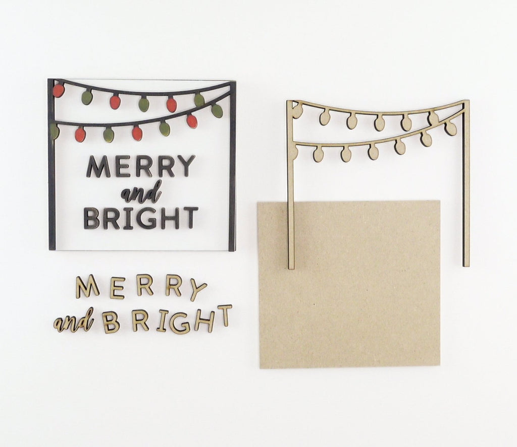Merry + Bright Lights | DIY Insert Kit | 6x6 (Size A)