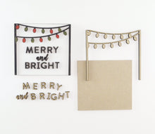 Load image into Gallery viewer, Merry + Bright Lights | DIY Insert Kit | 6x6 (Size A)