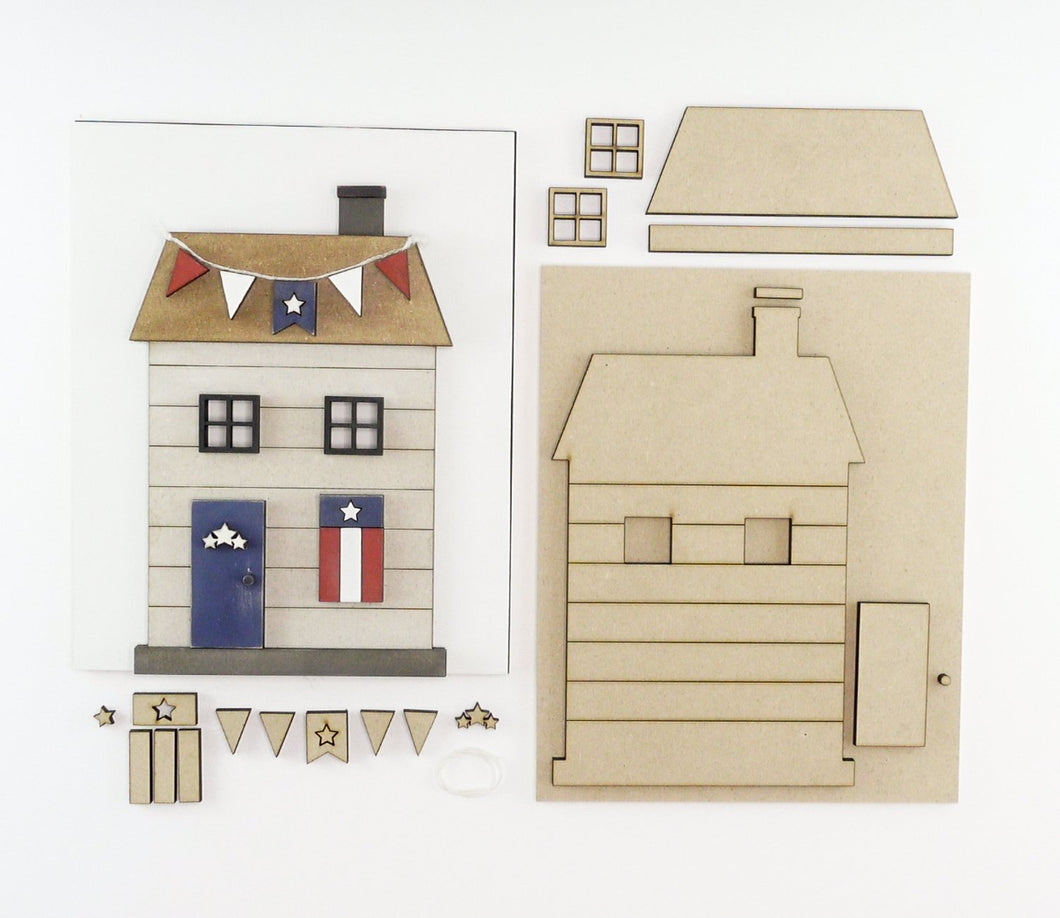 Patriotic Cottage | DIY Insert Kit | 8x10 (Size B)