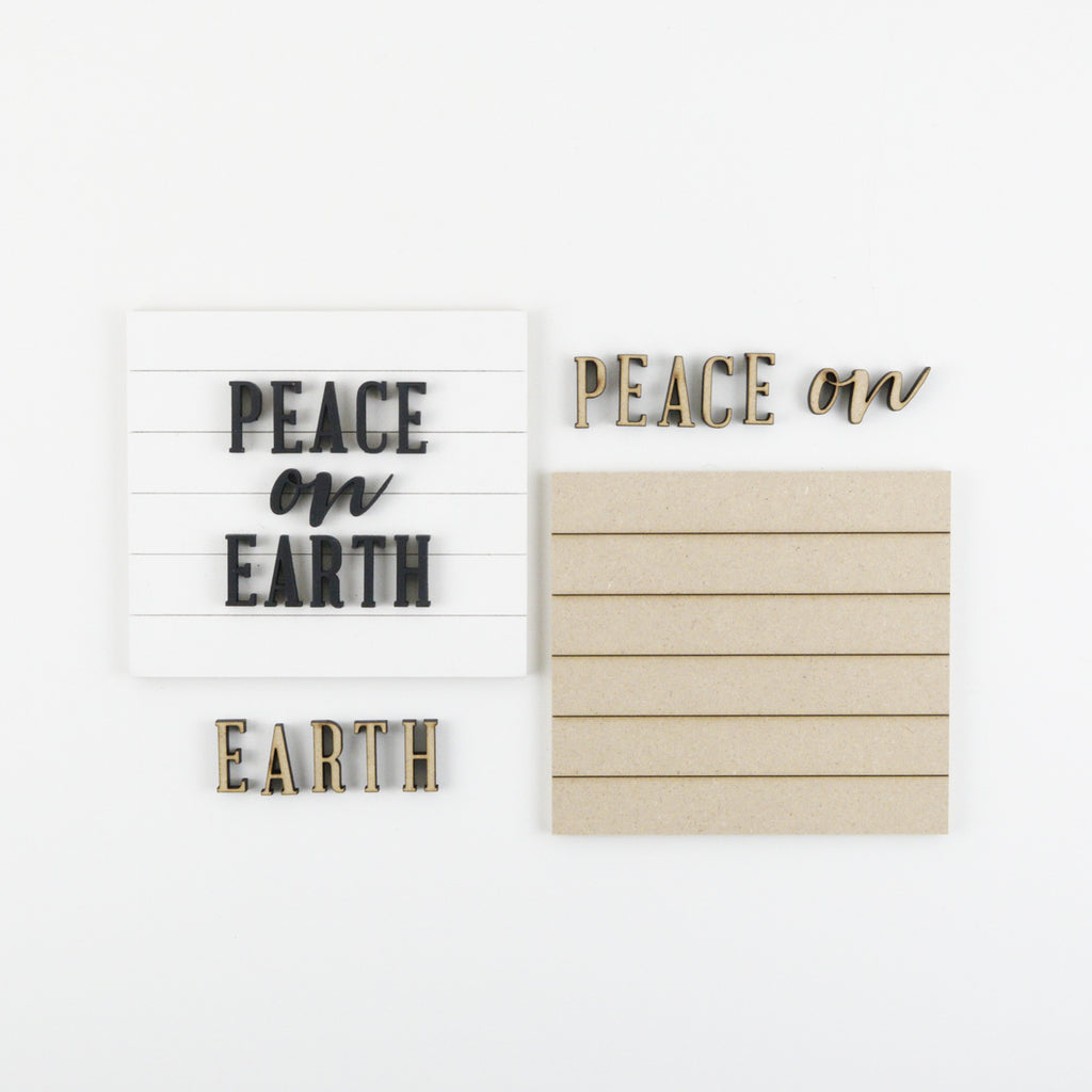 Peace on Earth | DIY Insert Kit | Size A