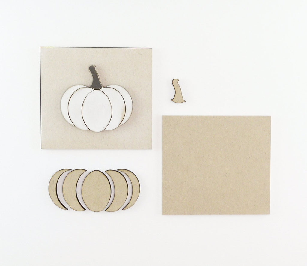 Pieced Pumpkin | DIY Insert Kit | 6x6 (Size A)