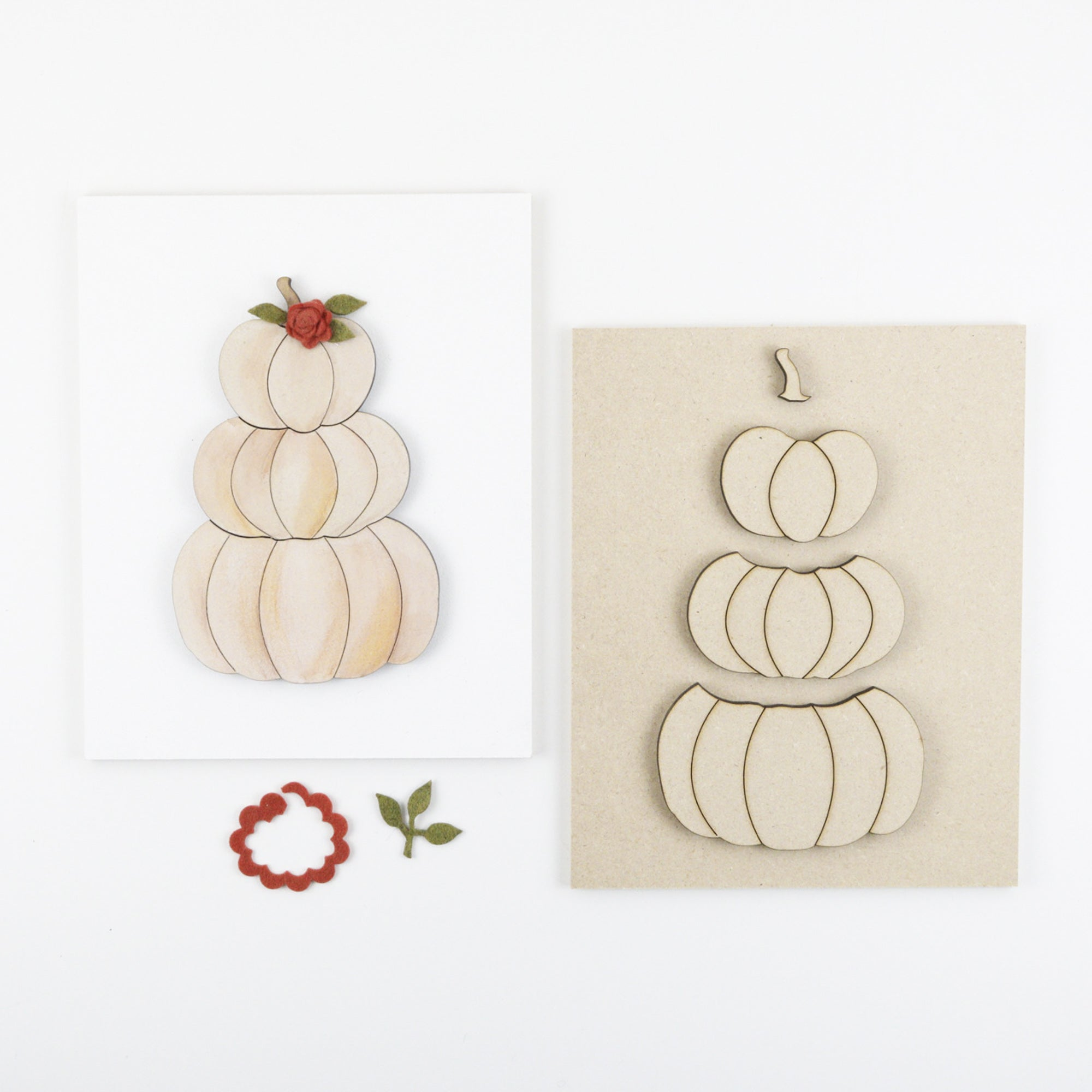 Stacked Pumpkins | DIY Insert Kit | Size B