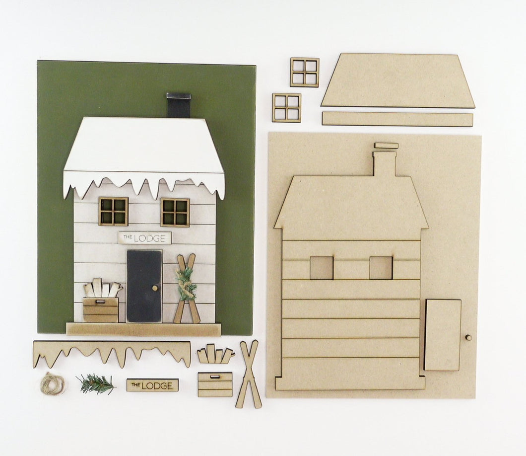 Winter Cottage | DIY Insert Kit | 8x10 (Size B)