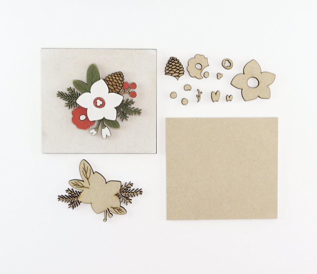 Winter Floral | DIY Insert Kit | 6x6 (Size A)