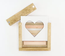 Load image into Gallery viewer, Wood Plank Heart | DIY Insert Kit | 6x6 (Size A)