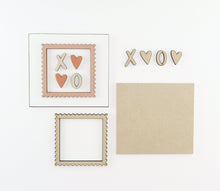 Load image into Gallery viewer, XO Postage | DIY Insert Kit | 6x6 (Size A)