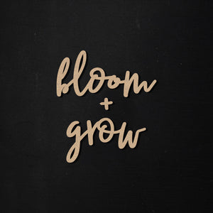 Bloom + Grow | Word Kit
