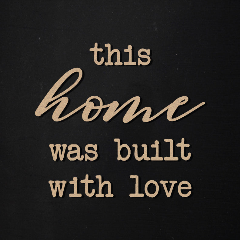Built With Love | Word Kit