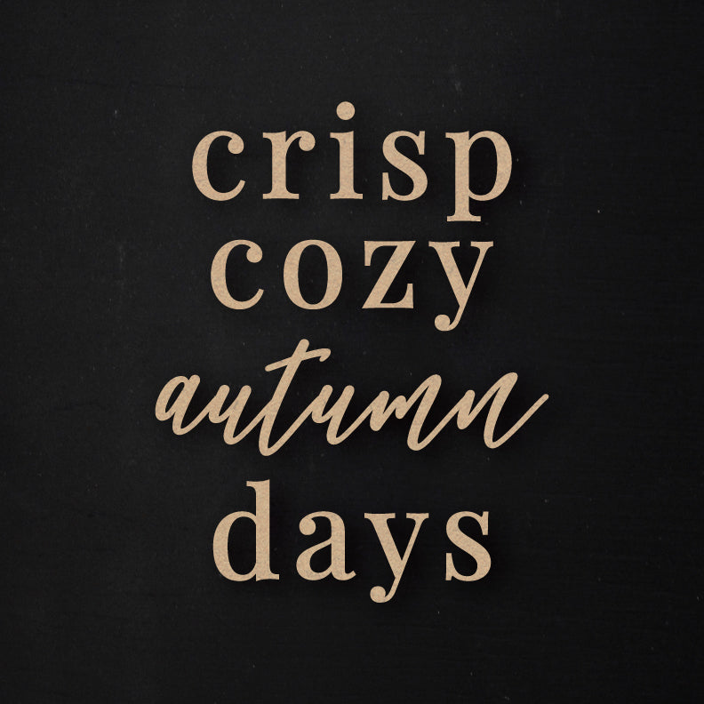 Crisp Cozy Autumn Days | Word Kit