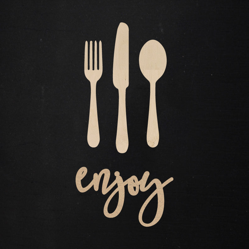 Enjoy + Utensils | Word Kit