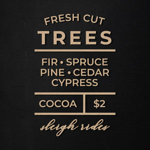 Fresh Cut Trees | Word Kit