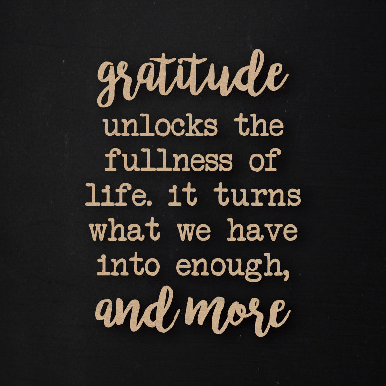 Gratitude and More | Word Kit