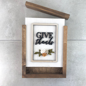Give Thanks | DIY Insert Kit | Size B