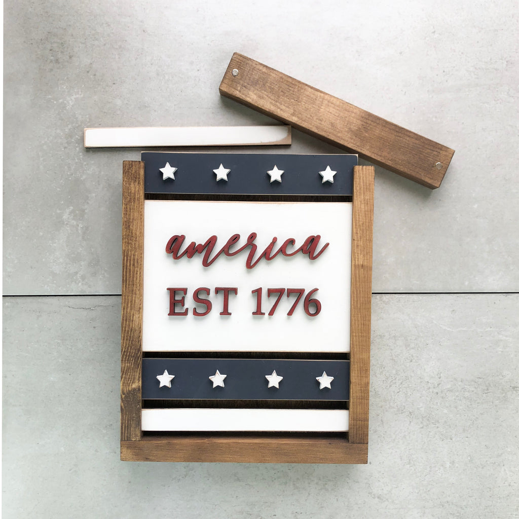 Established 1776 | DIY Project Kit | Size B | DISCOUNTED - NO ADHESIVE