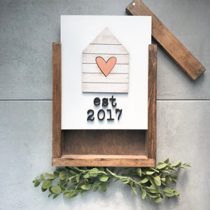 Established Shiplap House | DIY Insert Kit | Size B