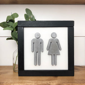 Bathroom Sign | DIY Project Kit | Size A